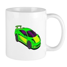Green Race Car Mug