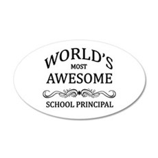 World's Most Awesome School Principal Wall Decal