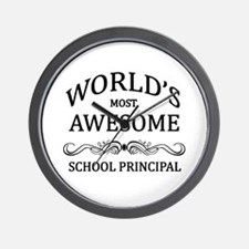 World's Most Awesome School Principal Wall Clock