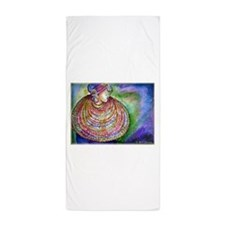 African, woman, art! Beach Towel