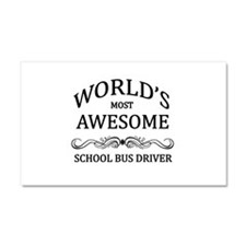 World's Most Awesome School Bus Driver Car Magnet