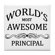 World's Most Awesome Principal Tile Coaster