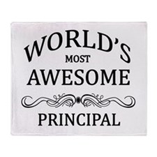 World's Most Awesome Principal Throw Blanket