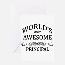 World's Most Awesome Principal Greeting Card