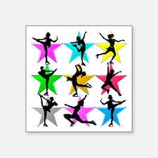 """SUPER STAR SKATER Square Sticker 3"""" x 3"""""""