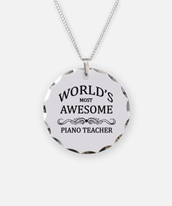 World's Most Awesome Piano Teacher Necklace