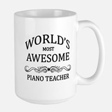 World's Most Awesome Piano Teacher Large Mug