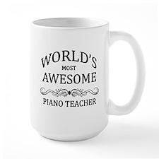 World's Most Awesome Piano Teacher Mug