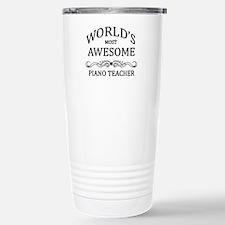 World's Most Awesome Piano Teacher Travel Mug