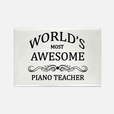World's Most Awesome Piano Teacher Rectangle Magne