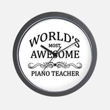World's Most Awesome Piano Teacher Wall Clock
