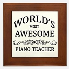 World's Most Awesome Piano Teacher Framed Tile