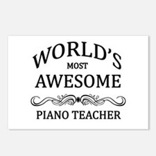 World's Most Awesome Piano Teacher Postcards (Pack