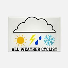 All Weather Cyclist(color) Rectangle Magnet