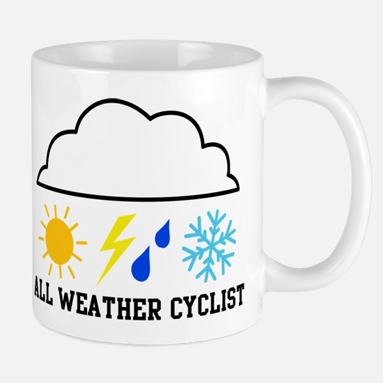 All Weather Cyclist(color) Mug