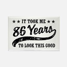 Funny 86th Birthday Rectangle Magnet