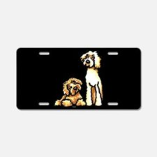Yellow Apricot Labradoodle Black Aluminum License