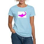 Black Shark Women's Pink T-Shirt
