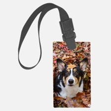 Corgi and Fall Leaves Luggage Tag