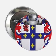 """Hitchcock Coat of Arms (Family Crest) 2.25"""" Button"""