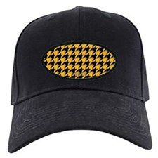 Houndstooth Yellow Baseball Hat