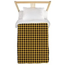 Houndstooth Yellow Twin Duvet