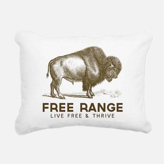 Free Range Rectangular Canvas Pillow
