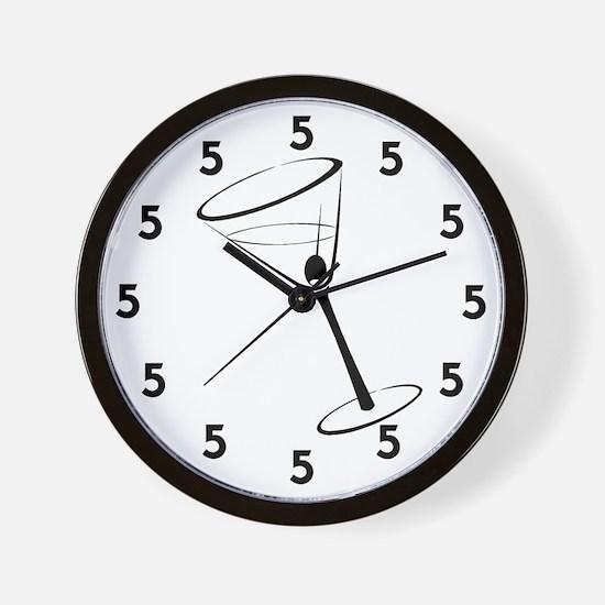 Martini Hour 5 oclock Wall Clock