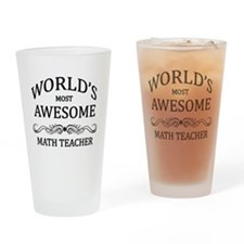 World's Most Awesome Math Teacher Drinking Glass