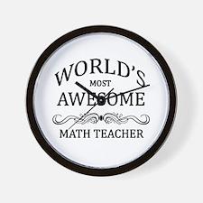 World's Most Awesome Math Teacher Wall Clock
