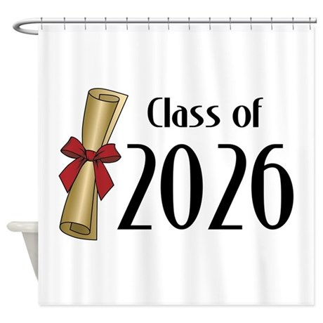 Class of 2026 Diploma Shower Curtain