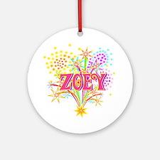 Sparkle Celebration Zoey Ornament (Round)
