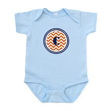 Orange & Navy Infant Bodysuit