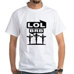 Jesus BRB LOL T-Shirt (White) M