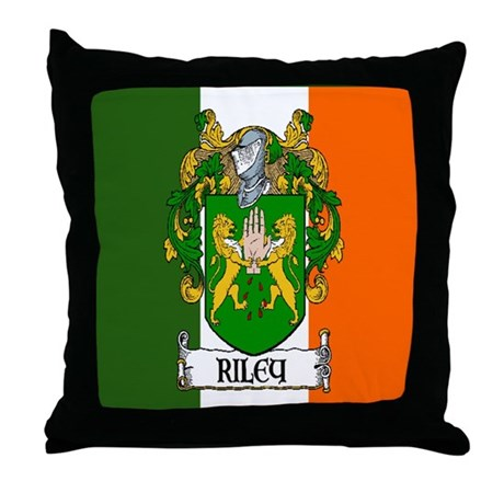 Riley Arms Flag Throw Pillow