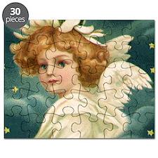 Vintage Christmas Angel Puzzle