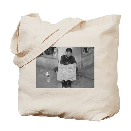 Kung Fu Poster Guy in B/W Tote Bag
