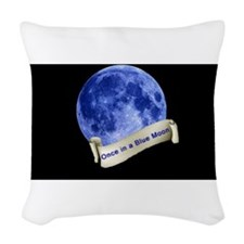 Once in a Blue Moon Woven Throw Pillow