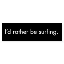 Surfing Bumper Car Sticker