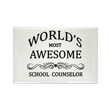 World's Most Awesome School Counselor Rectangle Ma