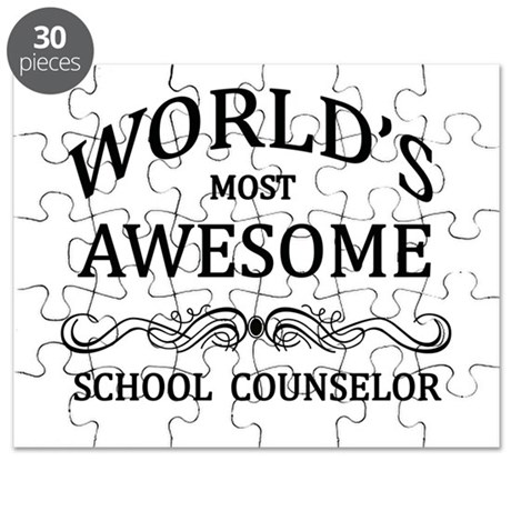 World's Most Awesome School Counselor Puzzle
