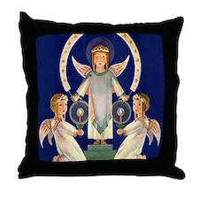 Scandinavian Saint Lucia Angels Throw Pillow
