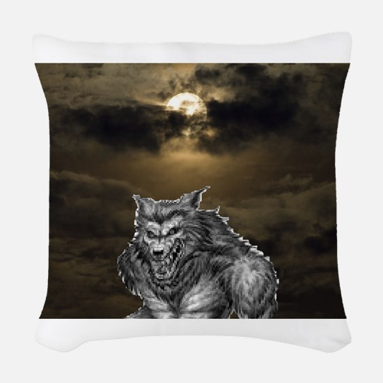 Wolfman Woven Throw Pillow