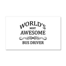 World's Most Awesome Bus Driver Car Magnet 20 x 12