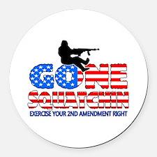 Gone Squatchin USA Round Car Magnet