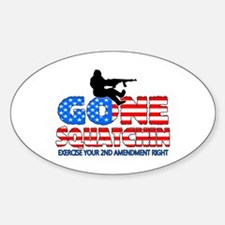 Gone Squatchin USA Decal