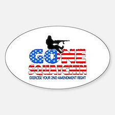 Gone Squatchin USA Sticker (Oval)