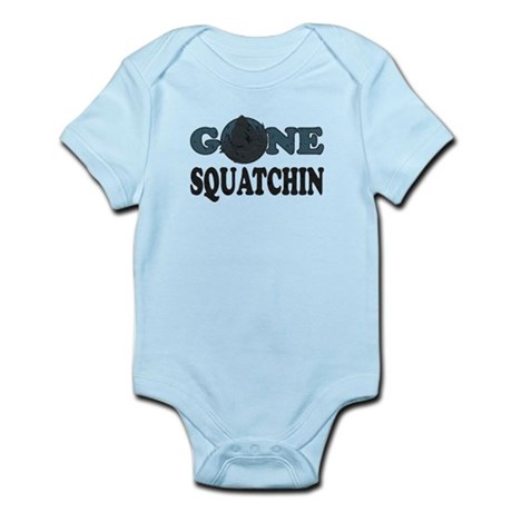 Gone Squatchin Yeti In Woods Infant Bodysuit