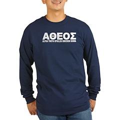 Alumni Atheist Shirt (Blue LS) M