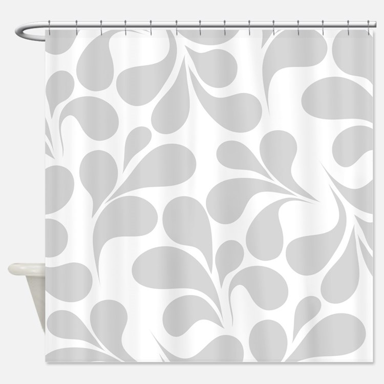 Gray And White Shower Curtains Gray And White Fabric Shower Curtain Liner